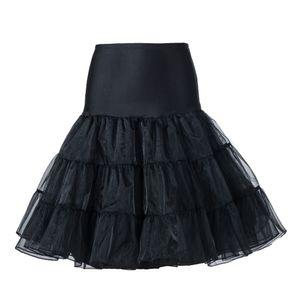 """50er Jahre 50er Jahre 26"""" Rockabilly Petticoat Unterrock Retro Vintage Swing (Black L/XL)"""