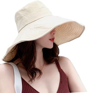 Sonnenhüte für Frauen Sommerhut Frauen Strand Hutsommer Frauen breiter Krempe Wannenhut -(beige breite Krempe,)