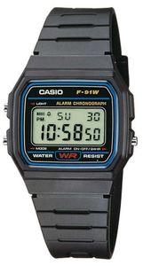 Casio F-91W-1YEF Herren-Armbanduhr, Kunststoff-Gehäuse