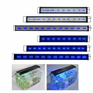 Lumiereholic 120CM LED Aquarium Beleuchtung Aufsetzleuchte Licht Blau+ Weiß ,Für 120-140CM Aquarium