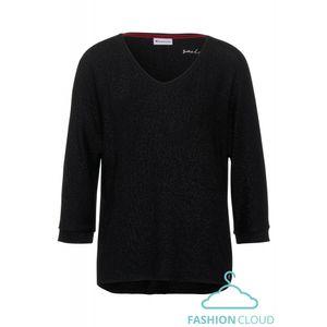 Street One T-Shirt, Farbe:10001 Black, Größe:44