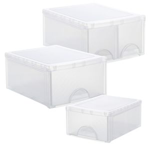 Schubladenbox twin FRONTBOX, Ausführung:44 x 34 x 20 cm (2 Fächer)