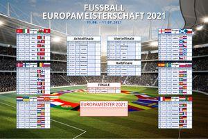 Fussball EM Planer 2021 Europa im 91,5x61 Maxi Poster Format