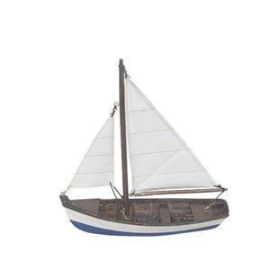 Holsteiner Fischerboot, Segel Fischer, Segelboot, Modellschiff aus Holz