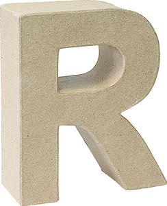 "KNORR prandell 3D-Buchstabe ""R"" Pappmaché 175 x 55 mm"
