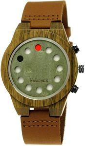 Holzwerk Damen & Herren Future Holzuhr Holz Armbanduhr Braun Grün