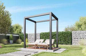 REXOcube Pergola aus Aluminium 2m x 2m