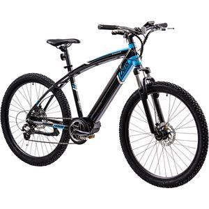 Zündapp Z808 650B E-Mountainbike E-Bike EMTB Hardtail 27,5 Zoll Pedelec Fahrrad Elektrofahrrad, Farbe:schwarz/blau, Rahmengröße:48 cm