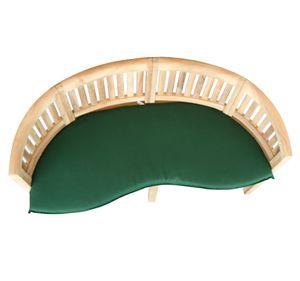 KMH® TEAK 3-sitzer Bananenbank mit Auflage grün