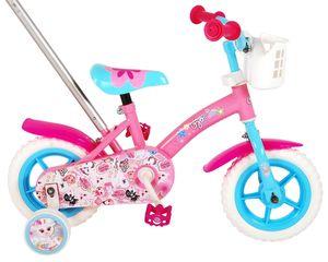 Kinderfahrrad OJO 10 Zoll Rosa Mädchenfahrrad mit EVA-Reifen, Korb und Schiebestange