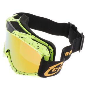 Motocrossbrille ATV Motorradbrille Dirt Bike Rennbrille Gelb 2  Farbe Gelb 2