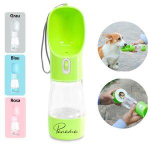 Hunde Trinkflasche für Unterwegs mit Futterbehälter und Wassernapf - Reisenapf
