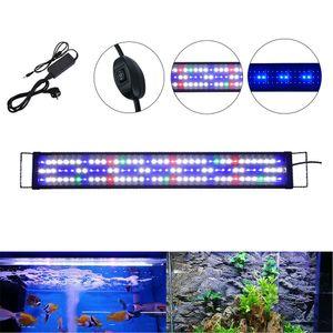 60-80cm LED Aquarium Beleuchtung ohne Timer Vollspektrum RGB Abdeckung Aufsatzleuchte Lampe Leuchte Tank