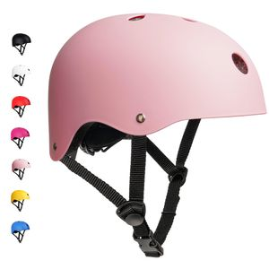 arteesol Kinder Fahrradhelm Skatehelm Kinderhelm Schutzhelm Verstellbar Mountainbike Helm 48-54cm Pink