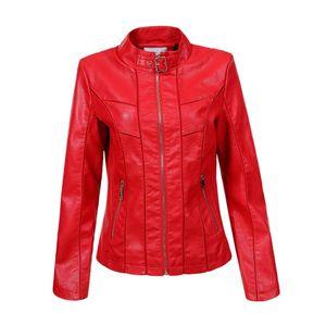 Ital-Design Damen Jacken Bikerjacken Rot Gr.3Xl