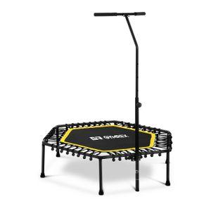 Gymrex Fitness-Trampolin - mit Stange - gelb