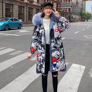 Damen Wintermantel Doppelseitig tragen Kapuze Dick Warme Schlanke Jacke Langer Mantel Größe:XL,Farbe:Blau