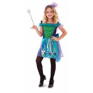 Pfau Fantasy Fairy Kostüm 120/130