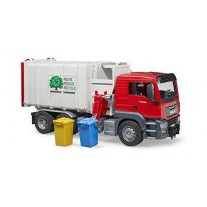 Bruder 3761 Man Tgs Seitenlader Müll - Lkw, Rot