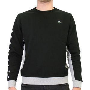 Lacoste Sweatshirt mit Streifen Herren Sonstige Pullover Schwarz/Grau/Weiß (SH4866 SNP) Größe: XXL