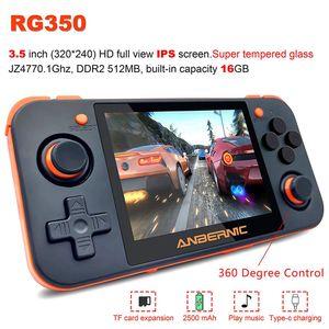 RG350 Retro Handheld 3,5-Zoll-IPS-Bildschirm 64Bit wiederaufladbare Videospielkonsole-Schwarz