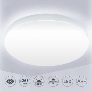 Wolketon 12W LED Deckenleuchte Badlampe Kinderzimmer Badezimmerlampe Kaltweiss