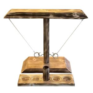 Handgefertigte Spiele,Hook and Ring Toss Kampfspiel Table Top Ring, für Erwachsene Trinkspiele Schwarz