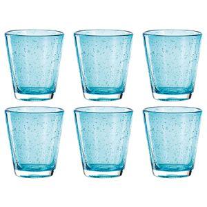 LEONARDO 034759 Burano Wasserglas, 330 ml, azzurro (6 Stück)