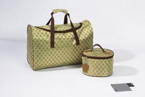 2er Reise Taschen Set Handgepäck Tasche / Weekender + Kosmetik Beauty Bag Koffer