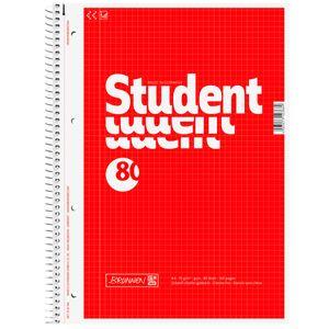 Brunnen Collegeblock Student A4 kariert mit Randlinie innen 80 Blatt
