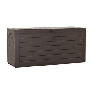 Woodebox Gartenbox Kissenbox Gartentruhe Verschließbar (280 Liter, Umbra)