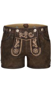 Leder-Hotpants Susi in Braun von Nübler, Größe:36