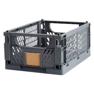 Klappbox Faltbox Transportbox 33x24.5x15cm, Farbe:Castor Grey