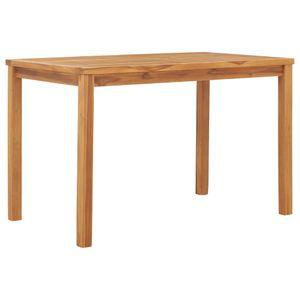 Gartentisch, Terrassentisch, Esstisch für Garten 120x70x77 cm Teak Massivholz