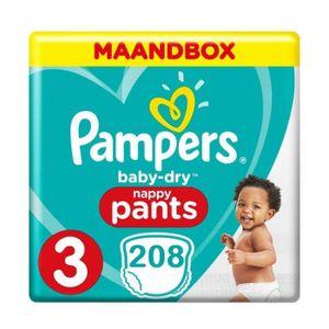 Pampers Baby Dry Pants, Größe 3 Midi, 208 Windeln, Monats verpackung XL