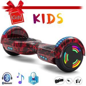 Elektroroller 6,5 Zoll Flamme Hoverboard Bluetooth Für Kinder Selbst Balance Roller Elektro Scooter LED Räder Lichter