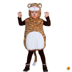 Unisex Kinder Tier Kostüm wilder Tiger, Overall