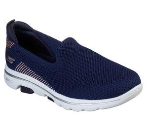 Skechers Damen Slipper GO WALK 5 PRIZED Blau, Schuhgröße:EUR 39