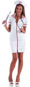 Carnival Toys kleid Krankenschwester Damen Polyester weiß Größe S