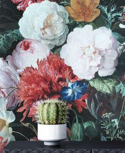 Tapete Blumentapete Rosa Vlies  Vintage Floral Modern Rosen   Deadders