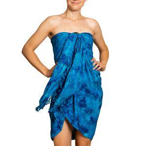 PANASIAM Sarong B Wachsbatik blue, Farbe/Design:B020 Palm blue
