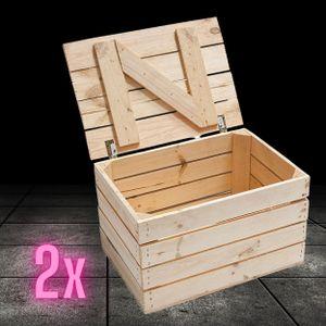 2 Holztruhen mit Deckel   48x36x28cm   Geschenkkiste für die Hochzeit   natur für kreatives Gestalten