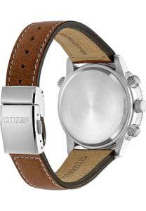 Citizen CB5860-27E Eco Drive Uhr Herrenuhr Leder Datum Alarm braun