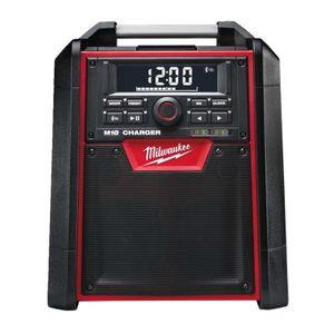 Milwaukee Akku-/Netz-Radio mit Ladefunktion M18 RC-0 18V, Bluetooth, MP3, Akku- oder Netzbetrieb - 40 W