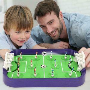 Details zu Mini Tischfußball Brettspiel Desktop Soccer Field Model Buildi ZHO200330002