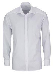 Olymp Comfort Fit Gala Hemd Langarm Uni Popeline Weiß 0294/65/00, Größe: 41