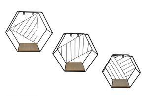 Wandregale HEXAGON 3er Set im Sechseck Design