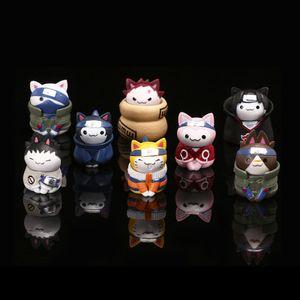 8 Stk/Set Naruto Katze Figure Spielzeug Actionfiguren Modell Sammelgeschenk Anime Puppen Ornamente