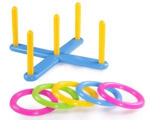 Ondis24 Ringe werfen Wurfspiel mit Ringen für Kinder ab 3 Jahren