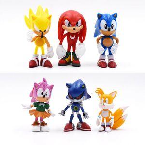 6Pcs Sonic Klassisch The Hedgehog Action Figur Modell Kinder Spielzeug Geschenk